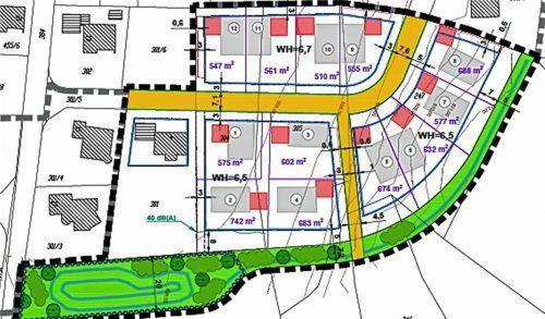 """Der Entwurf für das geplante Neubaugebiet """"Am Berg III – Rosenstraße"""" wurde von Hans Althammer erstellt. SAK Ingenieurgesellschaft mbH"""