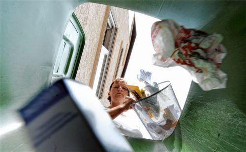 Die Bürger im Landkreis Rosenheim trennen fleißig ihren Müll. Dennoch fielen im Jahr 2019 pro Einwohner rund 187 Kilogramm Restmüll an. Foto dpa
