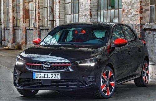 Die kontrastreiche Farbgebung des Opel Corsa Individual setzt sich im Innenraum mit schwarzem Dachhimmel und rotem Schaltknauf fort. Auto-Medienportal.Net/Opel