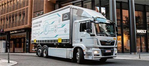 In 2021 wird MAN zwei Prototypen mit Brennstoffzellenantrieb vorstellen, und in den Jahren 2023/24 eine erste Testflotte in Dienst stellen. Foto Auto-Medienportal.Net/MAN