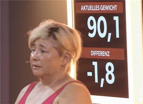 In der dritten Folge hat Baksi Ornella 1,8 Kilogramm abgenommen. Sie habe sich mehr erwartet, sagte sie im Fernsehen. Fotos SAT.1