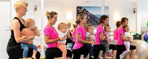Sport kann viel Spaß machen: Die Volkshochschule bietet auch heuer wieder Fitness-Kurse für Mütter zusammen mit ihren Kinder an. Foto  VOlkshochschule