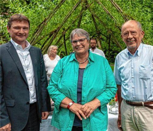 Als neue Vorsitzende des Fördervereins fungieren (von links) Jens Köhler und Ursula Flohr-Brumm. Wilhelm Hermann gab seinen Vorsitzposten nach zwölf Jahren auf.Foto Thomae