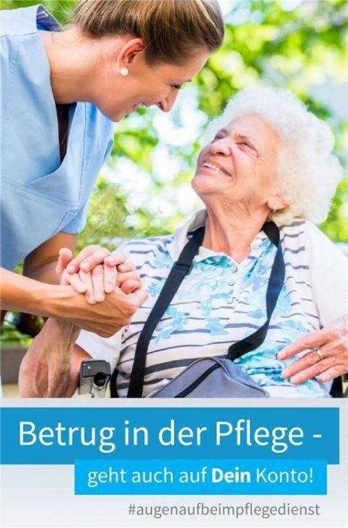 Auch mit einem Flyer wollen die Studenten auf das Thema Abrechnungsbetrug in der Pflege aufmerksam machen. PP Oberbayern Süd/TH Rosenheim