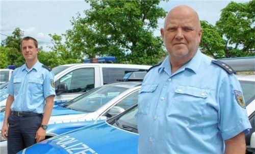 Das neue Führungsduo: Inspektionsleiter Ludger Otto (rechts) und sein Stellvertreter Thorsten Kleinschmidt. Foto Bundespolizei