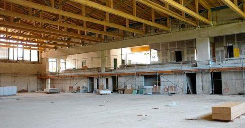 Der Bau der Sporthalle war vergangenes Jahr der größte Ausgabeposten im Verwaltungshaushalt. Foto Krammer