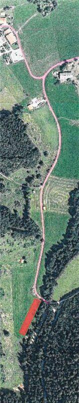Der geplante Wanderparkplatz bei Hintergschwendt (rot gekennzeichnet). Rehberg