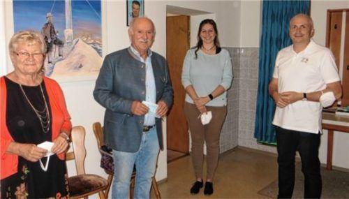Die neue Vorstandschaft (von links): Rosina Maria von Roennebeck, Egbert Windhager, Tamara Eggelaar und Johann Paintmeier führen den Freundeskreis Caneva. Foto Huber
