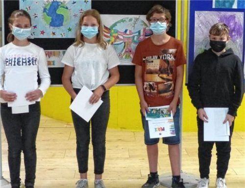 Die Sieger der Wasserburger Realschule: (von links) Katharina Thaler, Marika Stettner, Leo Köhldorfner und Felix Warmedinger.