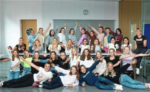 Die Siegergruppe der Tanz AG der Chiemsee Realschule. Foto Berger