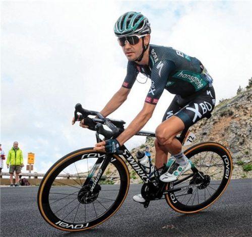 Emanuel Buchmann bot auf der 18. Etappe eine starke Leistung. Foto Luca Bettini / Bettiniphoto / Bora-hansgrohe