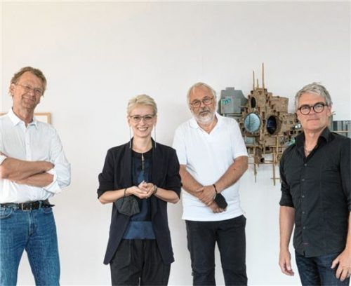 Führen den Verein in der neuen Periode an: (von links) Schriftführer Rainer Heinz, Vorsitzende Dr. Olena Balun sowie die weiteren Vorstandsmitglieder Martin Weiand und Bernhard Paul.Foto Kunstverein