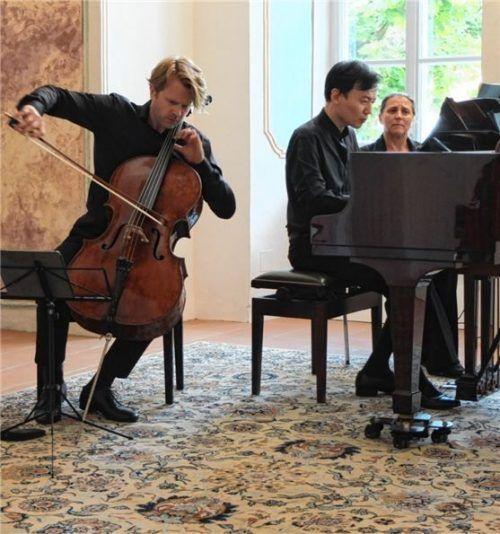 Sie boten bei den Inselkonzerten dichte Reflexion: Julian Steckel am Cello und William Youn am Klavier.Foto Frei