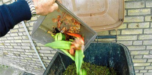 Vor allem organische Küchenabfälle sollen künftig auch in Rosenheim in einer Biotonne entsorgt werden. Foto dpa