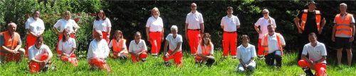 Das Kriseninterventions-Team Rosenheim wurde von den Trainern für Psychosoziale Notfallversorgung (PSNV), in den orangen Westen, ausgebildet.Foto Johanniter