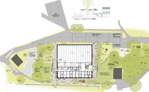 Der aktuelle Planungsentwurf für die Sporthalle in Aschau. Architekturbüros SRW-Plan