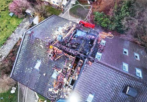 Einer der größten Einsätze der Feuerwehr Schwabering: ein Dachstuhlbrand.