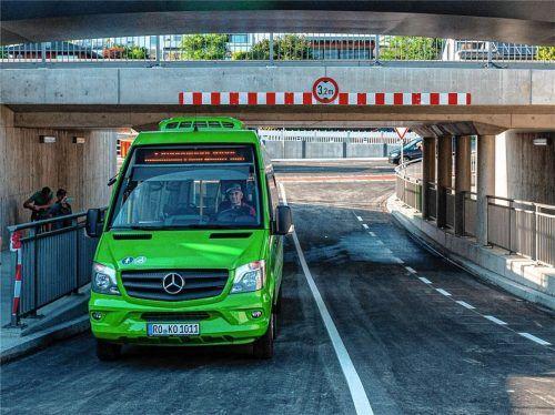 Freie Fahrt durch die Tonwerkunterführung: Ab Mittwoch, 1. September, gilt ein neuer Stadtbus-Fahrplan. Foto Thomae
