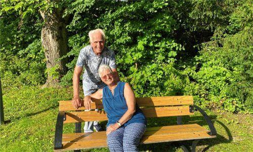 Glücklich mit dem Ort verbunden: Seit 45 Jahren kommen Antonia und Heinz Lipinski regelmäßig nach Bad Feilnbach, um dort ihren Urlaub zu verbringen.Fotos Riechert
