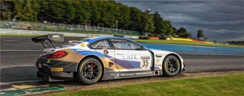 Martin Tomczyk im BMW M6 GT3 kollidierte bei einer Überrundung mit einem anderen Fahrzeug und schied aus. Foto BMW Motorsport