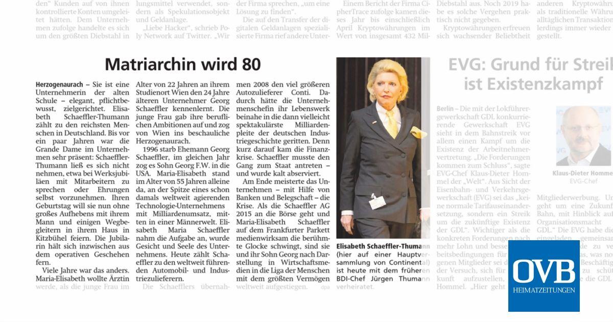 Matriarchin wird 80 - OVB Heimatzeitungen