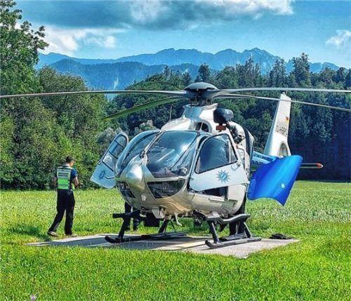 Weil es einem 71-jährigen Wanderer plötzlich schlecht ging, musste am Samstag ein Helikopter zum Großen Traithen ausrücken. Foto RE