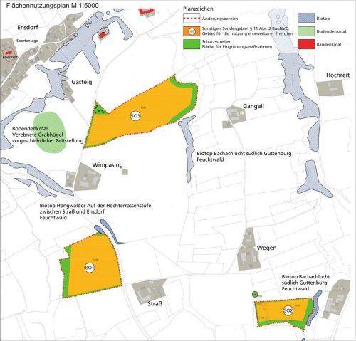 Auf insgesamt fast 15 Hektar landwirtschaftliche Flächen oberhalb des Ensdorfer Berges sollen Solarparks zur Stromgewinnung errichtet werden.  Klinger/Grünfabrik