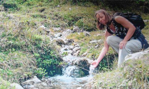 Claudia Irlacher war am liebsten in der Natur im Achental unterwegs. Sie zu schützen, war ihr privat und beruflich das wichtigste Anliegen.Foto  Sprivat