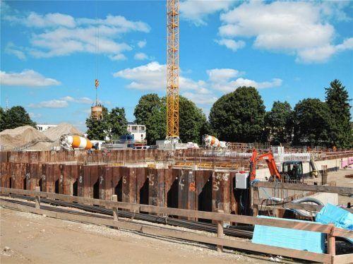 Die neue St.-Georg-Grund- und -Mittelschule, die derzeit gebaut wird, soll – wenn alles nach Plan läuft – im September 2023 fertig sein. Foto Hadersbeck