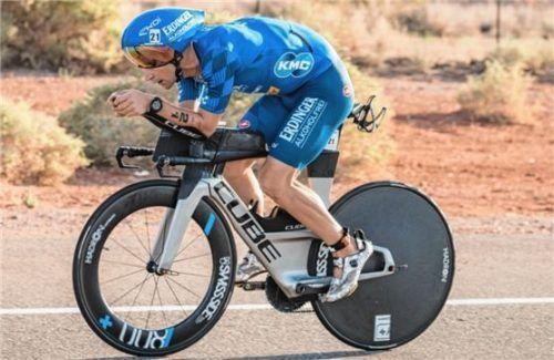 Frederic Funk musste das Rennen bei der Ironman70.3-WM vorzeitig aufgeben. Foto Castellanos