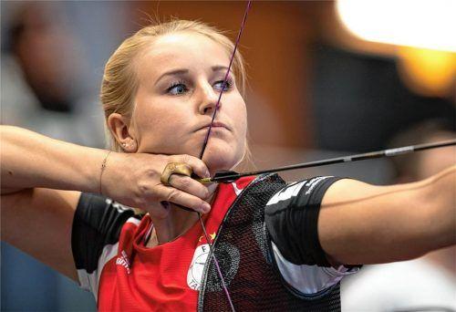 Katharina Bauer von der BSG Raubling hat sich für die Weltmeisterschaft in Yankton/USA qualifiziert. Foto Hans Weitz