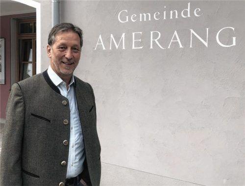 """""""Man braucht als Bürgermeister Mut zu Entscheidungen, damit Entwicklung möglich ist"""", sagt Bürgermeister Konrad Linner aus Amerang.Foto Auer"""