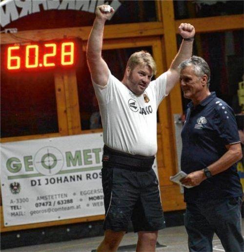 Peter Rottmoser ist neuer Europa-Cup-Sieger der Weitschützen. Foto Albert Kamhuber