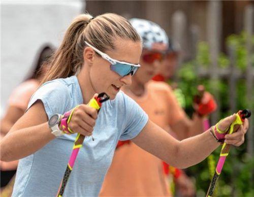 Sie freut sich auf die deutschen Meisterschaften am Arber: die Kiefersfeldener Biathletin Anna Weidel vom Stützpunkt Ruhpolding Foto Ernst Wukits