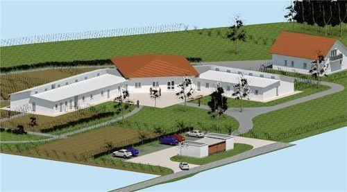 So soll das neue Tierheim aussehen, wenn es einmal fertig ist. Tierschutzverein