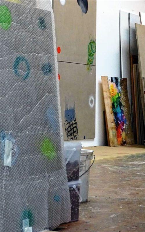 Auch in das Atelier von Peter Weigel in Rosenheim können Besucher einen Blick werfen. Foto Weigel