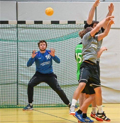 Bruckmühls Torhüter Tobias Mühleisen bot eine starke Leistung. Foto Thomas Fischer