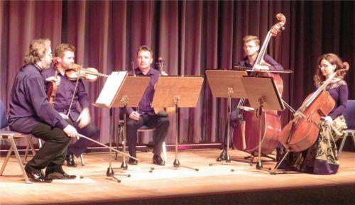 Das Schlesische Kammerquintett mit (von links) Darius Zboch, Jakub Lysik, Joroslaw Marzec, Dawid Lewandowski und Katarzyna Biedrowska.Fotos Rath