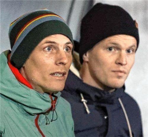 ...dem bisherigen Co-Trainer Matthias Haas (rechts) und seinem Bruder und Ex-Kapitän Dominik. Fotos Christian Butzhammer