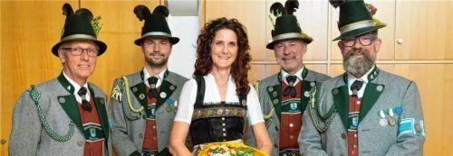 Der Vorstand der GSK: (von links) Ernst Schneider, Thomas Lemberger, Dagmar Schumacher, Josef Lemberger, Matthias Wicha. Foto Berger
