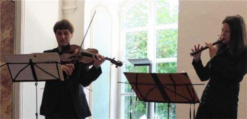 Dorothee Oberlinger und Nils Mönkemeyer boten eine faszinierende Hörreise.Foto Freiy