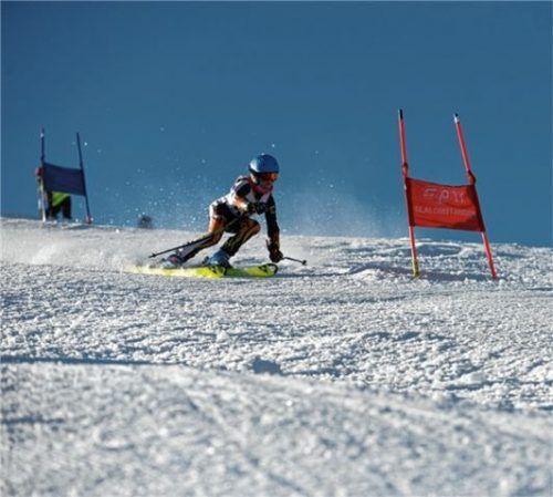 Im Winter trainieren die Rennläufer in den heimischen Bergen.