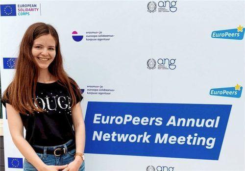 """Lea Sanne ist Jugendbotschafterin der EU (""""EuroPeer"""") und hat sich im September mit anderen Jugendbotschaftern aus ganz Europa in Rom getroffen, um sich auszutauschen. Foto privat"""