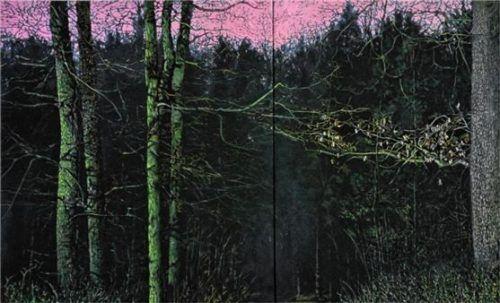 """""""Waldpark/Silence"""" ist ein Beispiel für Thorsten Groetschels Malerei."""